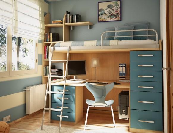 儿童房双层床装修