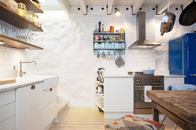 精材艺匠80平米怀旧复古风公寓装修案例